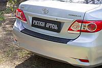 Накладка на задній бампер Toyota Corolla (седан) 2007-2013 р. в. Тойота Корола