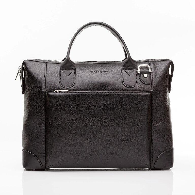 Кожаная мужская деловая сумка Blamont 006 черная