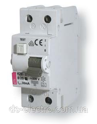 Диффер. автоматический выкл. KZS-2M C 10/0,03 тип AC (10kA)