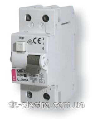 Диффер. автоматический выкл. KZS-2M C 40/0,03 тип AC (10kA)