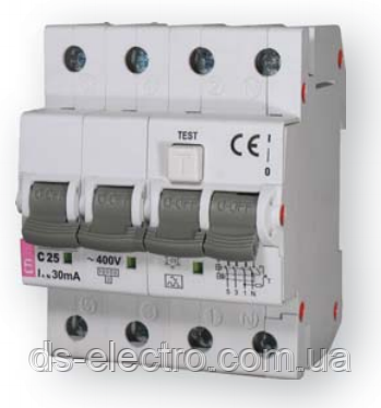 Диффер. автоматический выкл. KZS-4M 3p+N C 32/0,03 тип AC (6kA)
