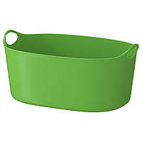 TORKIS Гибкая корзина для одежды, внутр/зов, зеленый