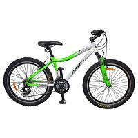 Спортивный велосипед 24 дюйма PROFI - LINERS XM241 (салатово-белый) на алюминиевой раме