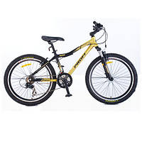 Спортивный велосипед 24 дюйма PROFI - LINERS XM241 (черно-золотистый) на алюминиевой раме