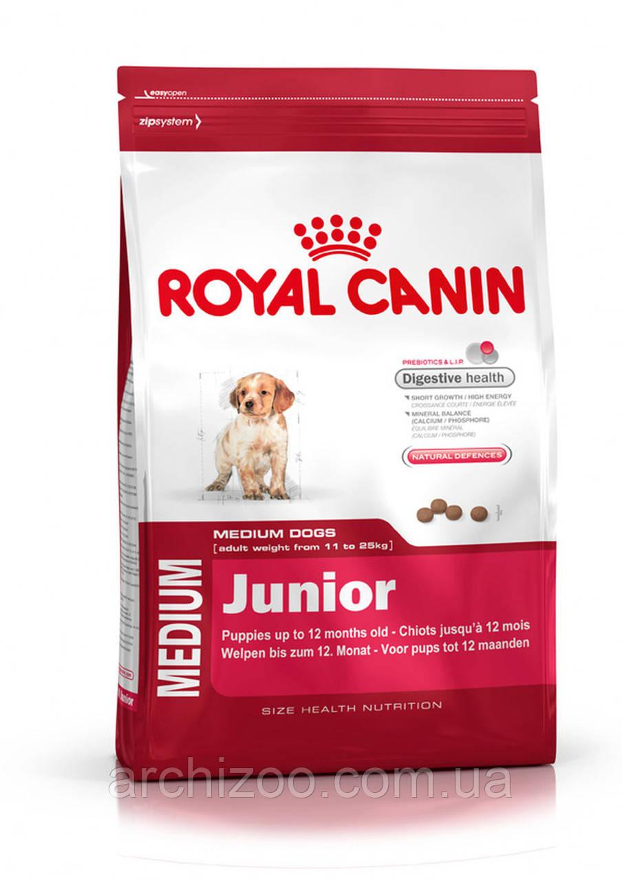 Royal Canin Medium Junior 20 кг для щенков средних пород от 2 до 12 месяцев