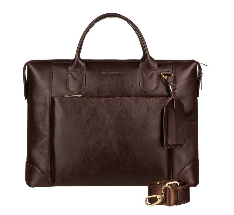 Кожаная мужская деловая сумка Blamont 006