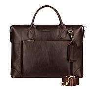 Кожаная мужская деловая сумка Blamont 006 темнокоричневая