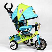 ЦЕНА АКТУАЛЬНА! Детский трехколесный велосипед MM 0156-01 MM, голуб-зел, усиленная двойная ручка, Харьков