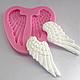 """Молд силиконовый """"Крылья Ангела"""" 6 см  2,7 см, фото 2"""