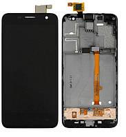 Дисплей (экран) для Alcatel 6012 One Touch Idol Mini Sate + с сенсором (тачскрином) и рамкой черный