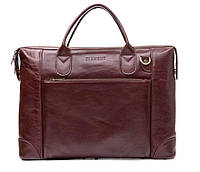 Кожаная мужская деловая сумка Blamont 006 коричневая