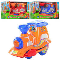 Паровоз игрушка в кор муз на бат 0037 А