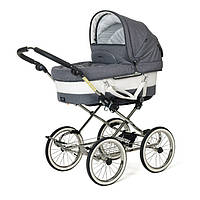 Детская Универсальная коляска-трансформер Mondial de Luxe Duo Combi LOUNGE GREY - Emmaljunga Швеция модульная