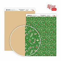 """Бумага для дизайна """"Christmas 2"""", двусторонняя, 21*29,7 см, 250 г/м2, ROSA Talent, 5310064"""
