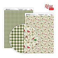 """Бумага для дизайна """"Christmas 6"""", двусторонняя, 21*29,7 см, 250 г/м2, ROSA Talent, 5310068"""