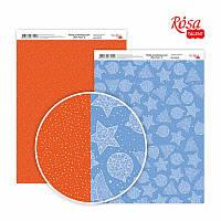 """Бумага для дизайна """"New Year 2"""", двусторонняя, 21*29,7 см, 250 г/м2, ROSA Talent, 5310072"""