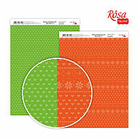 """Бумага для дизайна """"New Year 4"""", двусторонняя, 21*29,7 см, 250 г/м2, ROSA Talent, 5310074"""