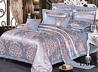 Комплект  постельного белья сатин жаккард тиара семейный размер 1701