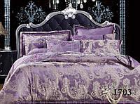 Комплект  постельного белья сатин жаккард Тиара семейный размер 1703
