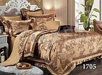 Комплект  постельного белья сатин жаккард Тиара семейный размер 1705