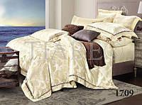 Комплект  постельного белья сатин жаккард Тиара семейный размер 1709