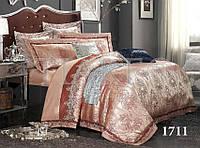 Комплект  постельного белья сатин жаккард Тиара семейный размер 1711