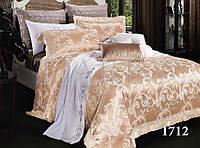 Комплект  постельного белья сатин жаккард Тиара семейный размер 1712
