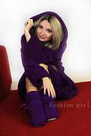 Яркий и стильный комплект: сапожки и халат женский