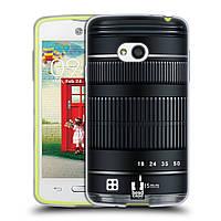 Силиконовый чехол для LG L50 узор Фотокамера нео