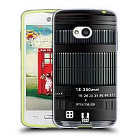 Силиконовый чехол для LG L50 узор Фотокамера