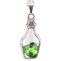 Кулон Сердце в бутылочке | Green