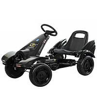 Бэтмен-мобиль Детский веломобиль педальный картинг М 3416-2 EVA-колесо (Черный)