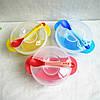 Набор посуды для первого прикорма малышей тарелка с крышкой +ложка