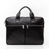 Кожаная мужская деловая сумка Blamont 012 черная