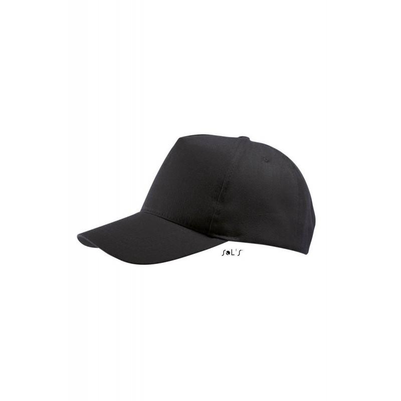 Бейсболка, кепка черная SOL'S BUZZ, Франция, 11 цветов, рекламные под нанесение логотипа