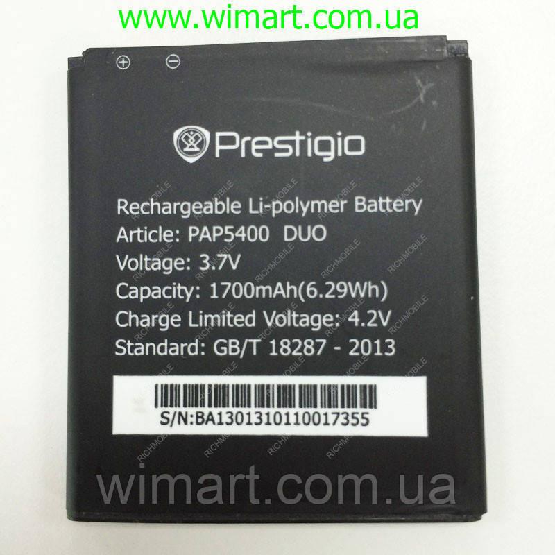 Аккумулятор для Prestigio 5400 1700мАч PAP5400DUO.