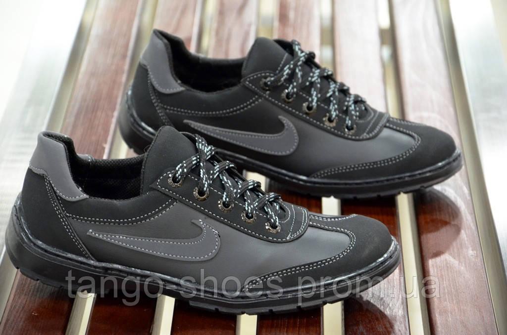 b01e39e2cc6 Туфли спортивные кроссовки мокасины мужские черные nike реплика Львов 2017.  - Танго - обувь со