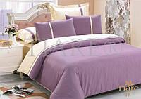 Комплект постельного белья сатин однотонный Тиара евро размер 18