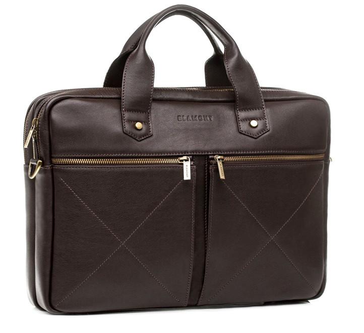 Мужская кожаная деловая сумка Blamont 012