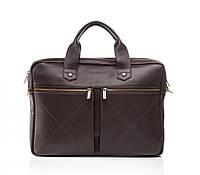 Мужская кожаная деловая сумка Blamont 012 темнокоричневая