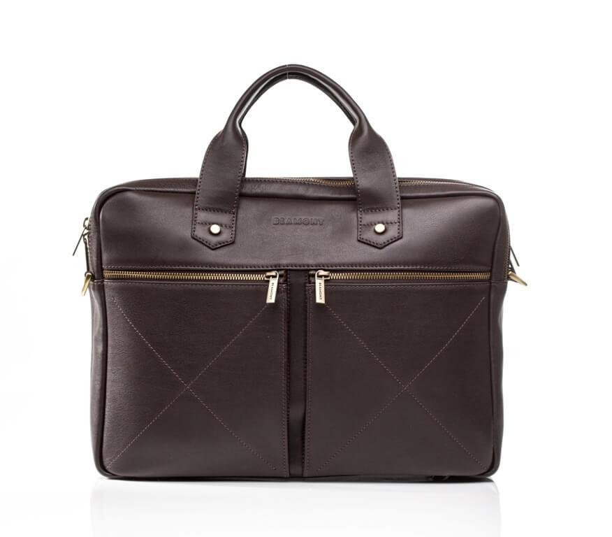 a217f2ea7b53 Мужская кожаная деловая сумка Blamont 012 темнокоричневая -  Интернет-магазин