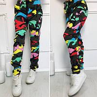 Женские разноцветные камуфляжные штаны