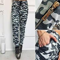 Женские модные серые камуфляжные штаны