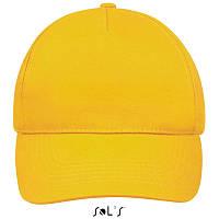 Бейсболка, кепка желтая SOL'S SUNNY, Франция, 18 цветов, рекламные под нанесение логотипа