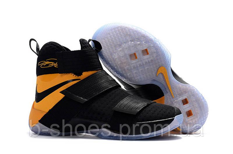 Мужские баскетбольные кроссовки Nike LeBron Zoom Soldier 10 (Black/Yellow)