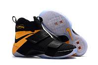 Мужские баскетбольные кроссовки Nike LeBron Zoom Soldier 10 (Black/Yellow), фото 1