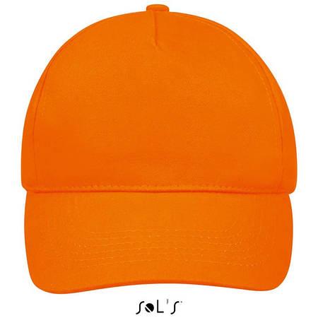 Бейсболка, кепка оранжевая SOL'S SUNNY, Франция, 18 цветов, рекламные под нанесение логотипа