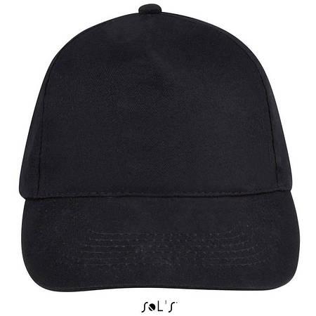 Бейсболка, кепка черная SOL'S SUNNY, Франция, 18 цветов, рекламные под нанесение логотипа