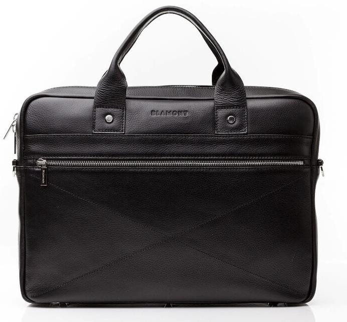 Кожаная мужская деловая сумка Blamont 013 черная