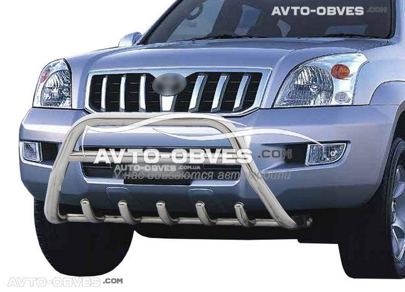 Защитный обвес переднего бампера Тойота Ленд Крузер Прадо 120 2003 - 2008